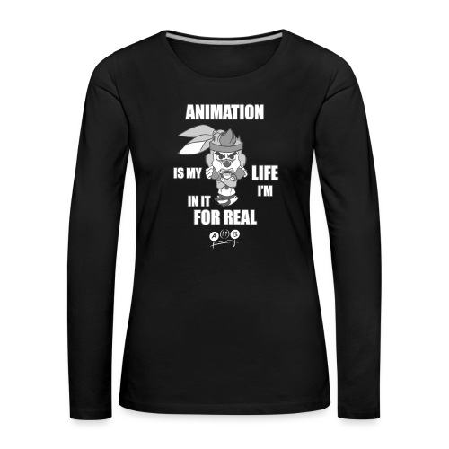 AMB Animation - In It For REAL - Women's Premium Longsleeve Shirt