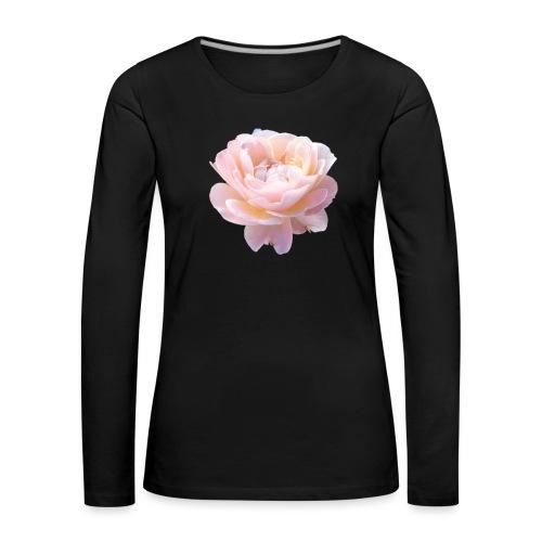 A pink flower - Women's Premium Longsleeve Shirt