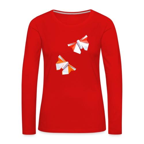 Butterflies Origami - Butterflies - Mariposas - Women's Premium Longsleeve Shirt