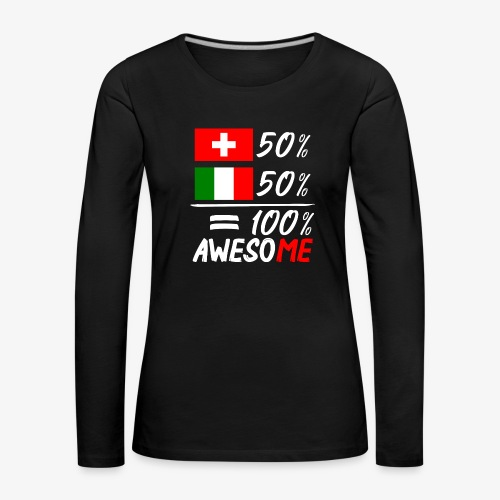50% Schweiz 50% Italien - Frauen Premium Langarmshirt