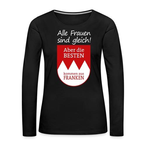 6_spruch_frauen_schwarz - Frauen Premium Langarmshirt