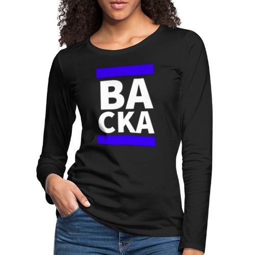 Backa - Långärmad premium-T-shirt dam