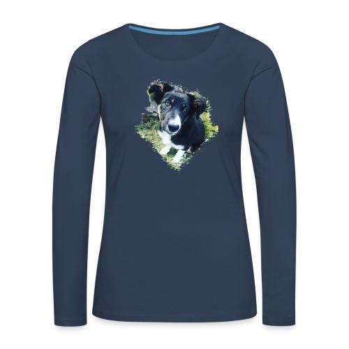 colliegermanshepherdpup - Women's Premium Longsleeve Shirt