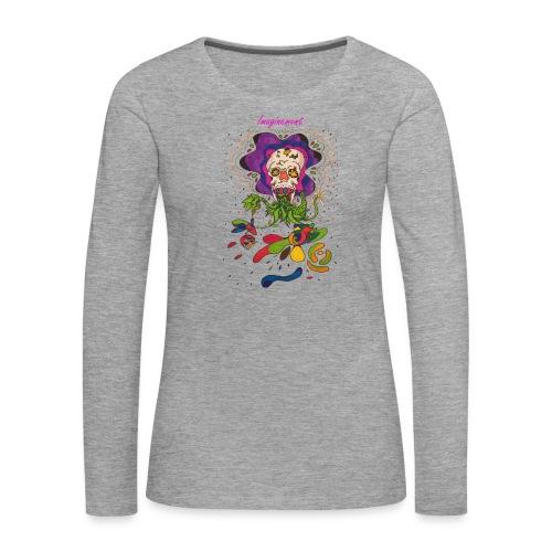 Döskalle - Långärmad premium-T-shirt dam