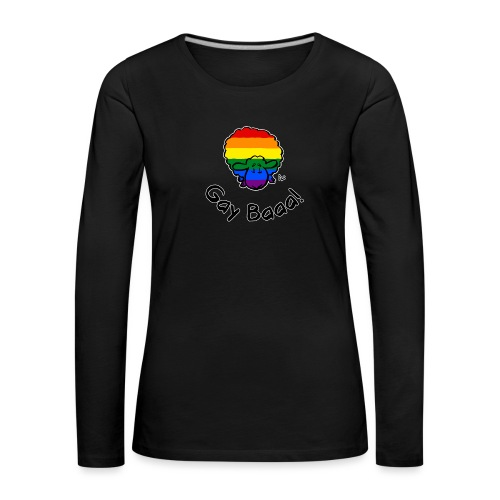Gay Baaa! Rainbow Pride Sheep (edizione nera) - Maglietta Premium a manica lunga da donna