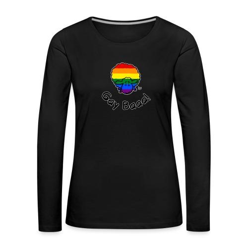 Homofil Baaa! Rainbow Pride Sheep (svart utgave) - Premium langermet T-skjorte for kvinner