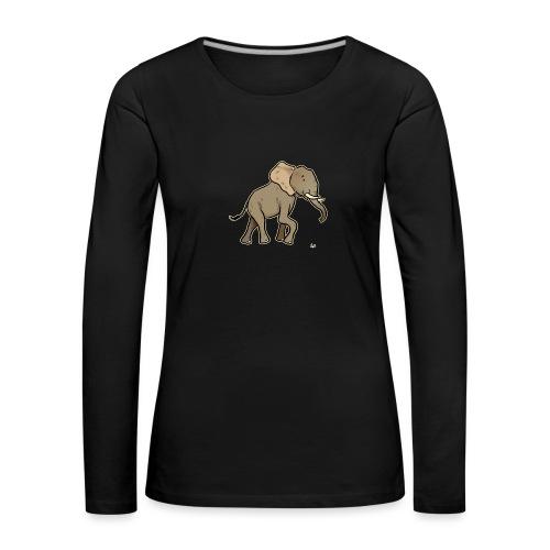 African Elephant (black edition) - T-shirt manches longues Premium Femme