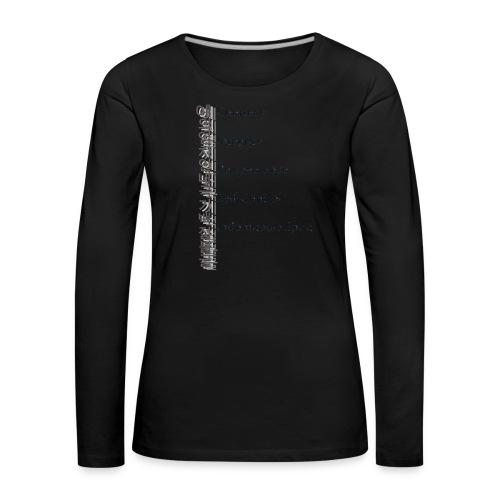 5 Tenets Taekwondo Kid's Hoodie 2 - Women's Premium Longsleeve Shirt