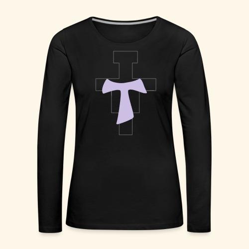 crocitau - Maglietta Premium a manica lunga da donna