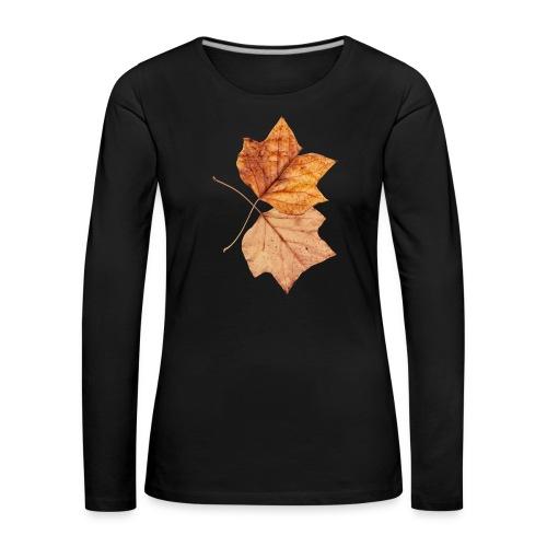 Blätter - Frauen Premium Langarmshirt