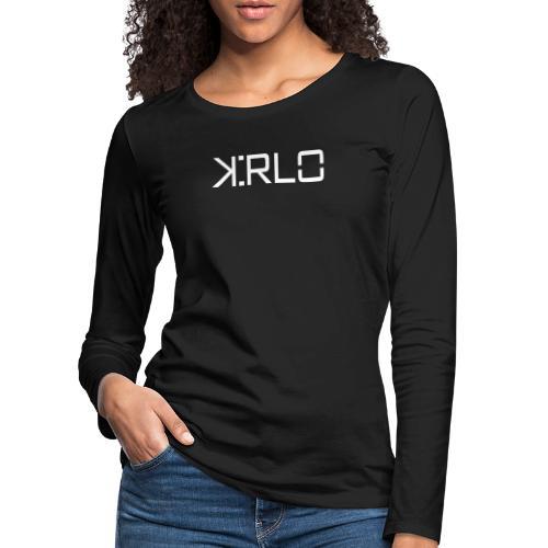 Kirlo Logo Blanco - Camiseta de manga larga premium mujer