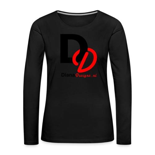 logo_diana_designs-nl - Vrouwen Premium shirt met lange mouwen