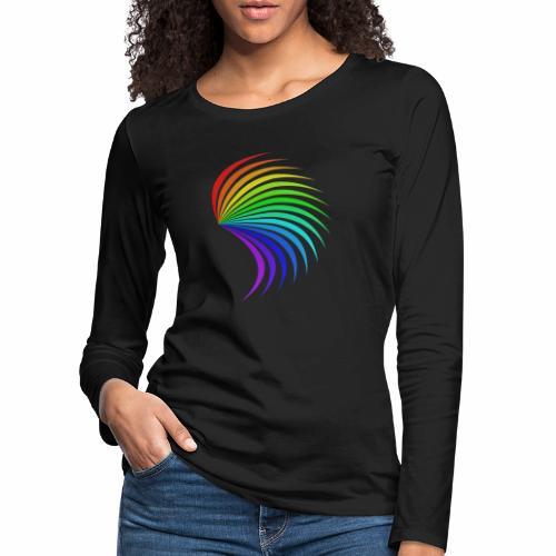 Kolorowe skrzydło - Koszulka damska Premium z długim rękawem