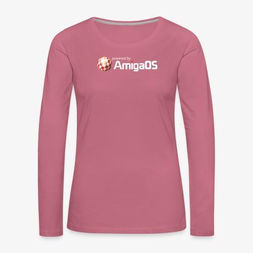PoweredByAmigaOS white - Women's Premium Longsleeve Shirt