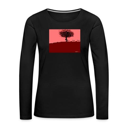albero_0001-jpg - Maglietta Premium a manica lunga da donna