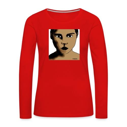 volto0001-jpg - Maglietta Premium a manica lunga da donna