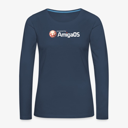 PoweredByAmigaOS white - Women's Premium Longsleeve Shirt