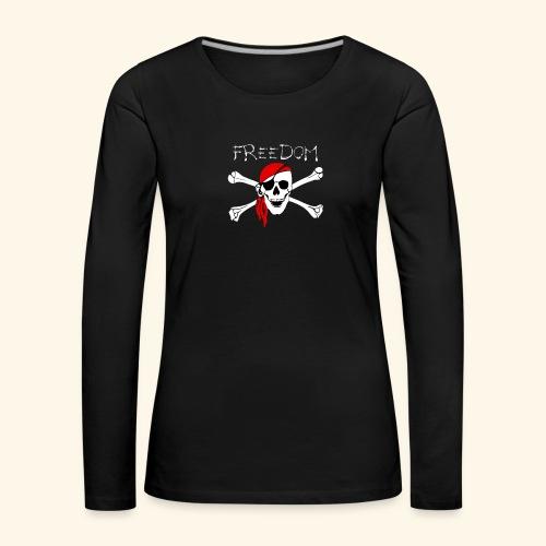 Freiheit Pirat Totenkopf - Frauen Premium Langarmshirt