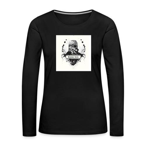 KOLMAS GETO LOGO VALMIS ISO RESOLUUTIO - Naisten premium pitkähihainen t-paita
