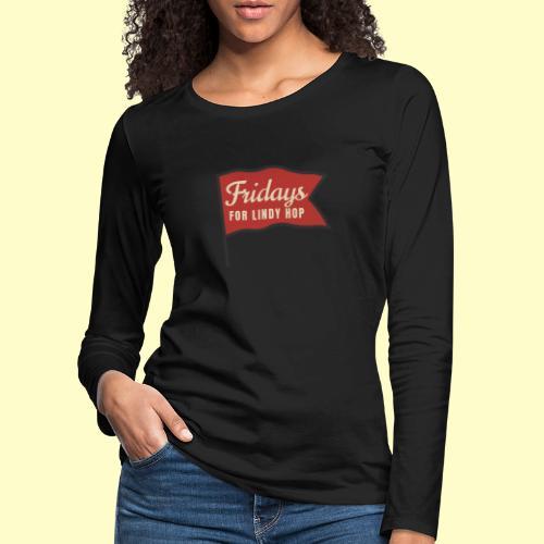 Lindy Hop Swing Tanz Geschenk T-Shirt - Frauen Premium Langarmshirt