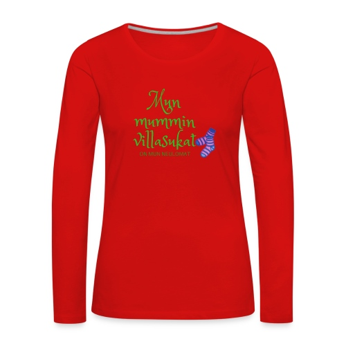 My woolen wool is my needlework - Women's Premium Longsleeve Shirt