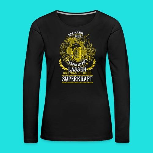 Bier Superkraft - Frauen Premium Langarmshirt