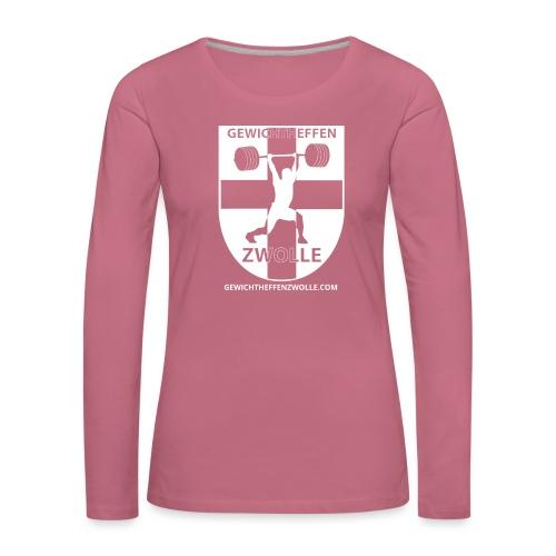 Bestsellers Gewichtheffen Zwolle - Vrouwen Premium shirt met lange mouwen