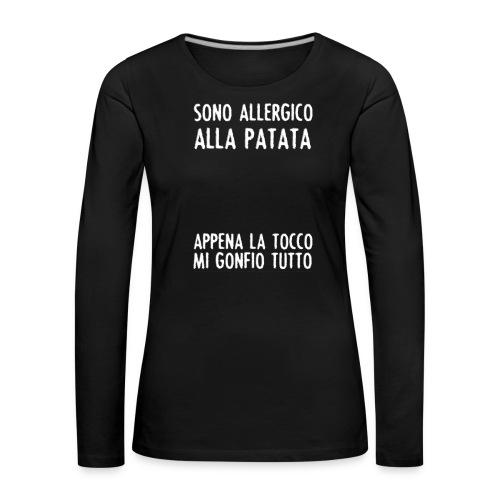 Patata - Maglietta Premium a manica lunga da donna