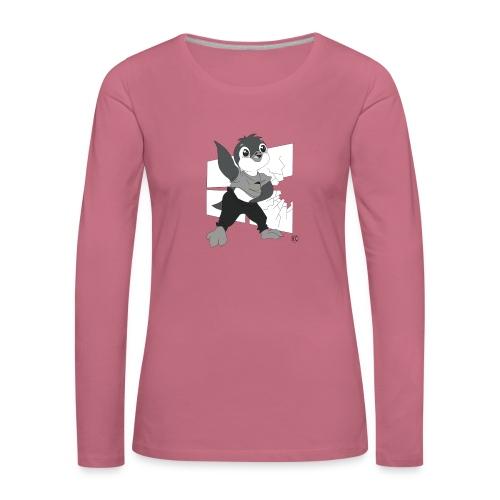 Le pingouin de Nice - T-shirt manches longues Premium Femme