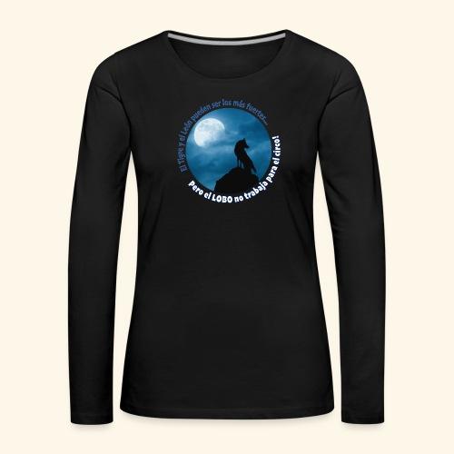 LOBO - Camiseta de manga larga premium mujer