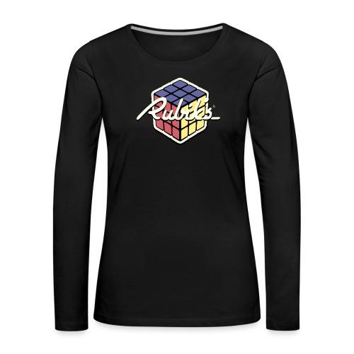 Rubik's Cube Retro Style - Women's Premium Longsleeve Shirt