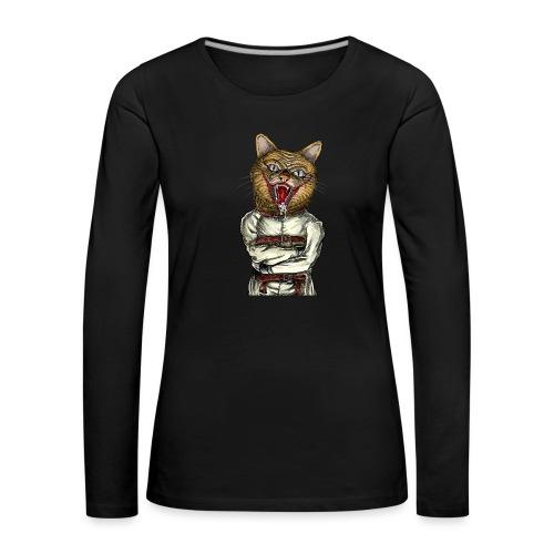 Crazy Cat - T-shirt manches longues Premium Femme