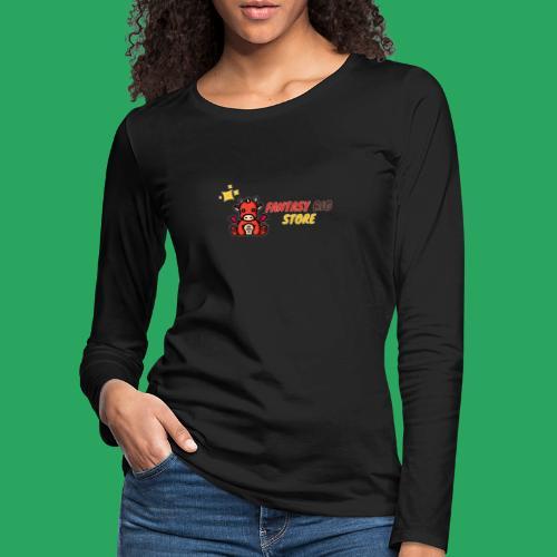 Fantasy big store - Maglietta Premium a manica lunga da donna