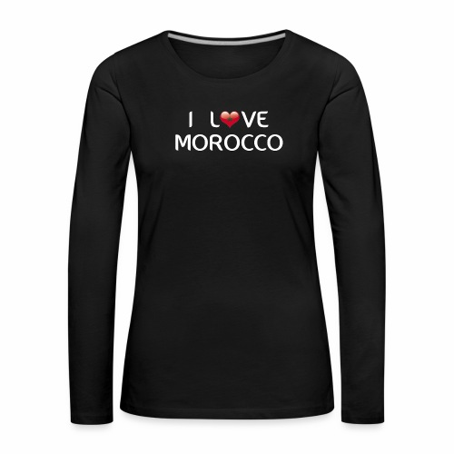 i_love_morocco - T-shirt manches longues Premium Femme