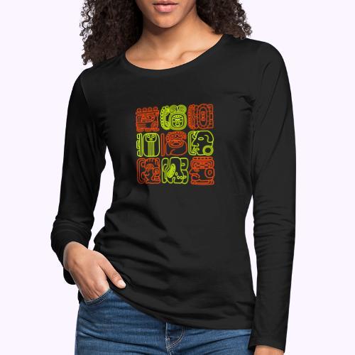 Bolontiku Maya - Camiseta de manga larga premium mujer
