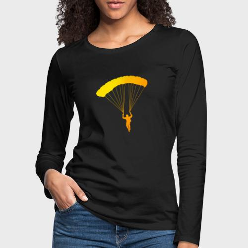 Colorfull Skydiver - Frauen Premium Langarmshirt