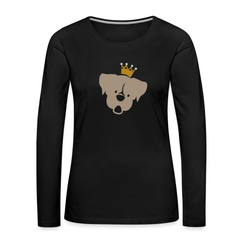 Prinz Poldi braun - Frauen Premium Langarmshirt
