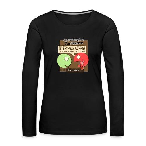 Commissaire Corrélation - T-shirt manches longues Premium Femme
