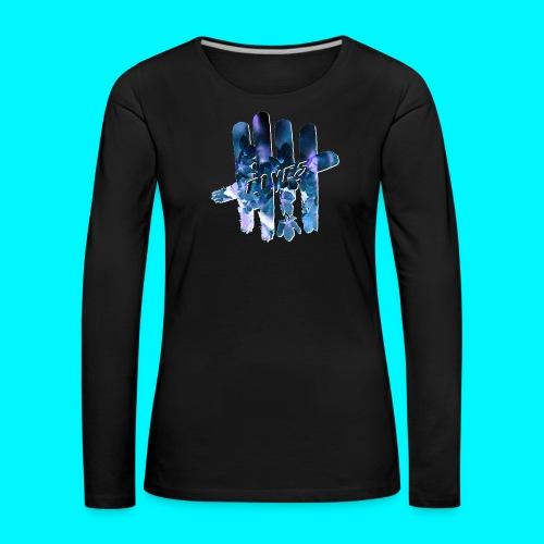 FIVES space flowers - T-shirt manches longues Premium Femme