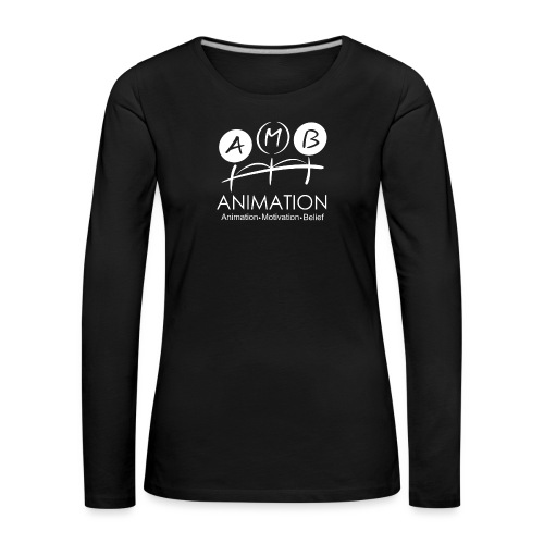 AMB Logo Animation Motivation Belief - Women's Premium Longsleeve Shirt