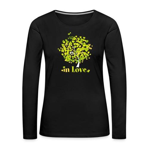 Love Liebe Amor Vogel Herz Baum Valentin - Women's Premium Longsleeve Shirt