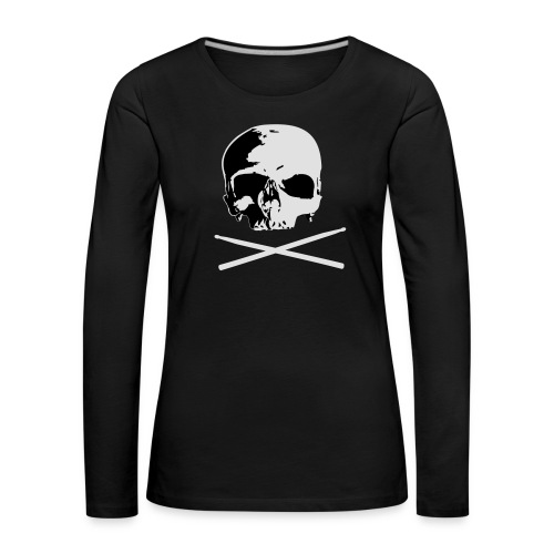 skull and sticks - Frauen Premium Langarmshirt
