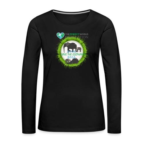 Save the elephant - Erik - Långärmad premium-T-shirt dam