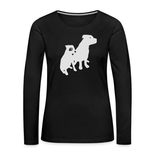 Doggy / zwei brave Hunde zum verschenken - Frauen Premium Langarmshirt