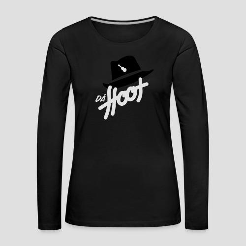 daeHoot_Shirt_Logo2_2c - Frauen Premium Langarmshirt