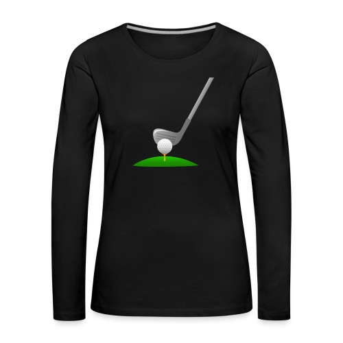 Golf Ball PNG - Camiseta de manga larga premium mujer