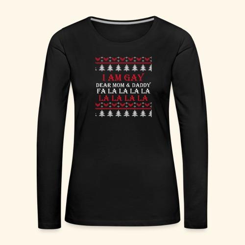 Gay Christmas sweater - Koszulka damska Premium z długim rękawem