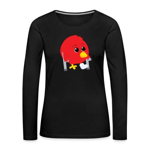 Oiseau rouge blessé - T-shirt manches longues Premium Femme