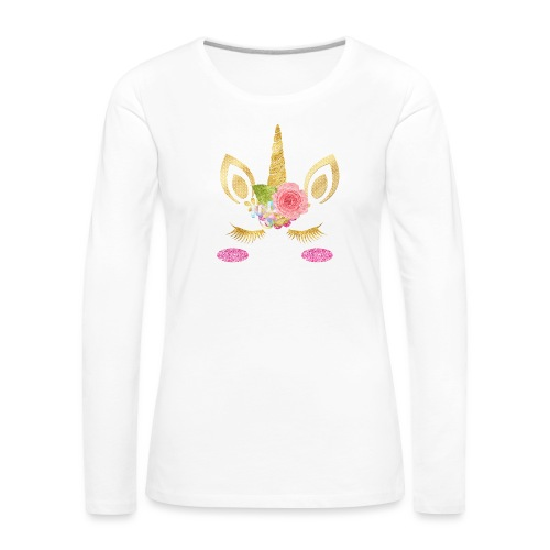 unicorn face - Frauen Premium Langarmshirt