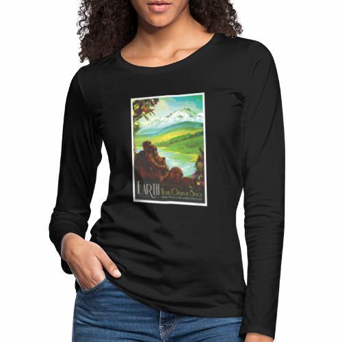 Planète Terre - T-shirt manches longues Premium Femme